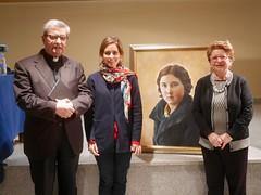 Los 3 ponentes con un cuadro de Guadalupe (2)